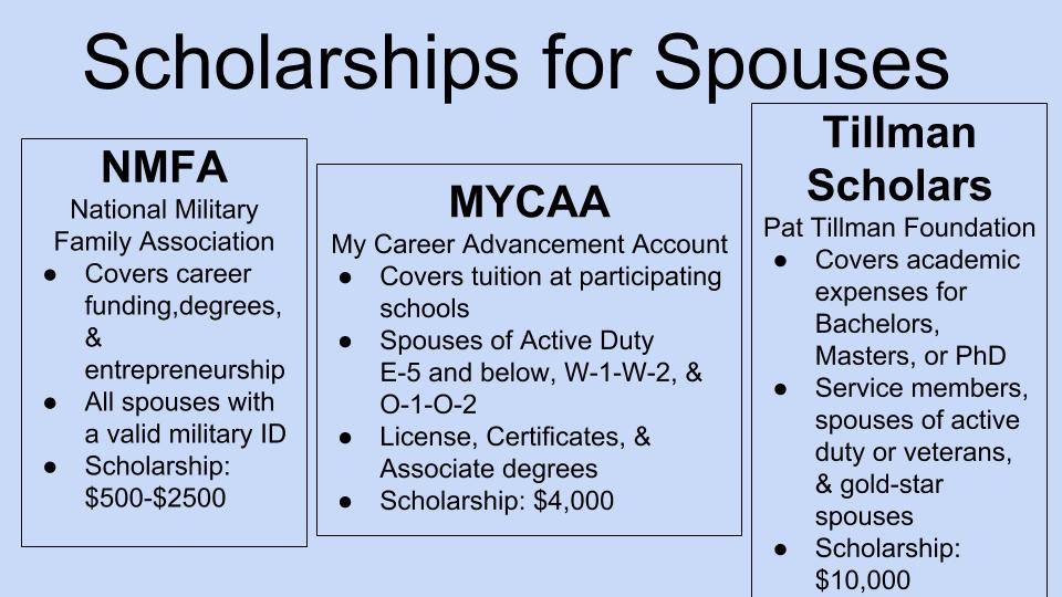 Scholarships for Spouses