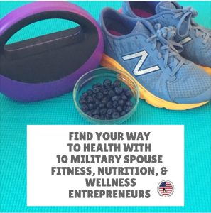 running shoes, weights, and blueberries sitting next to each other