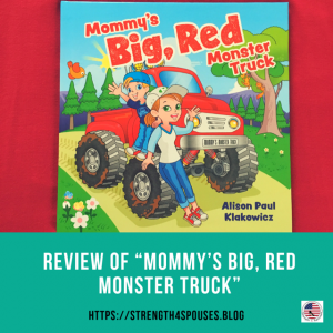"""Cover of the book """"Mommy's Big, Red Monster Truck"""""""