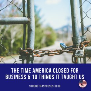 """a picture of a fence chained together with the caption """"The Time America Closed For Business & 10 Things It Taught Us"""""""