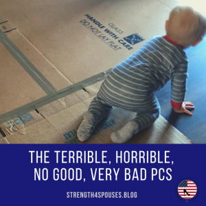 """A baby crawling on the floor with the caption """"The terrible, horrible, no good, very bad pcs"""""""