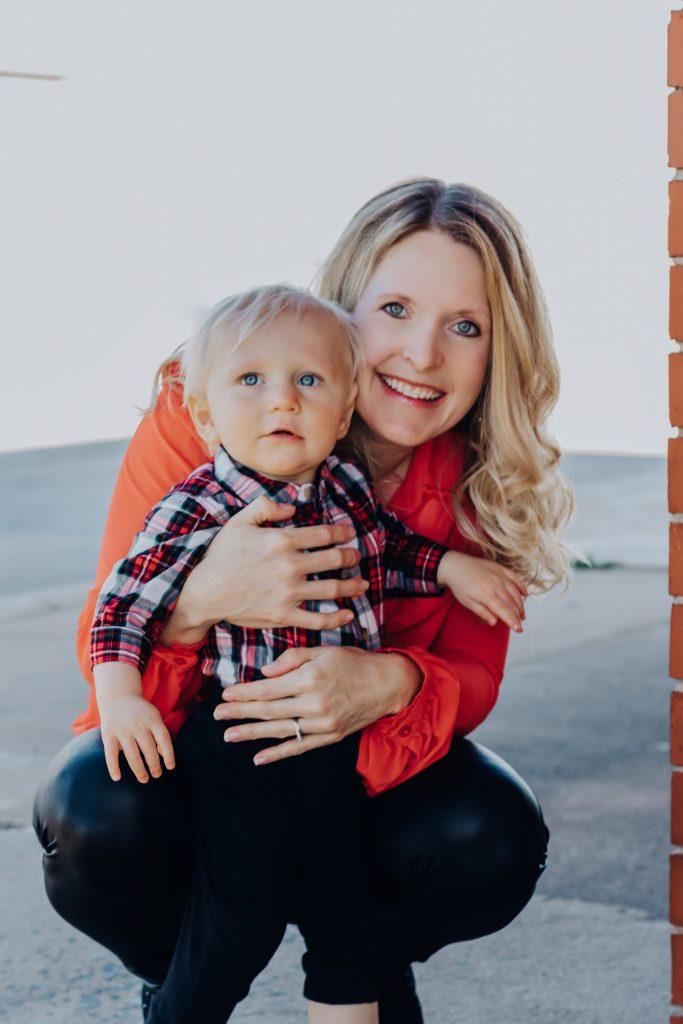 Wendi Iacobello and her son smiling