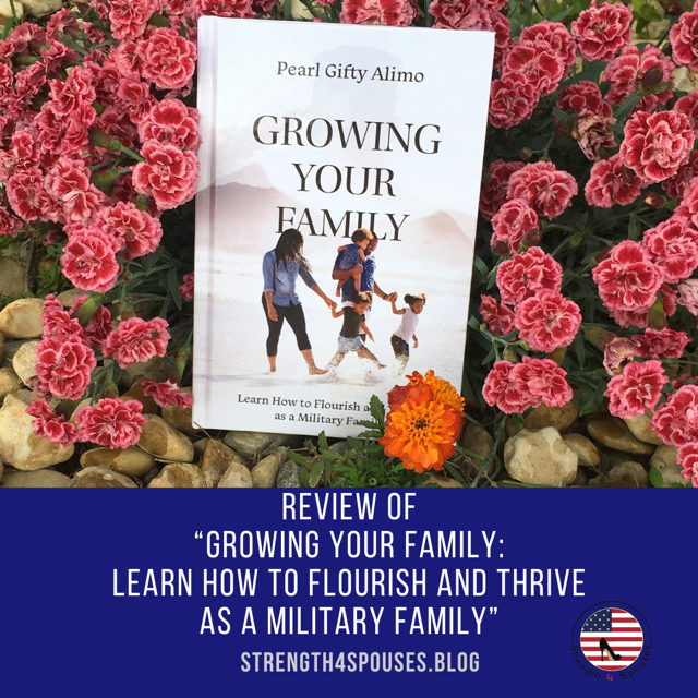 """Cover of the book """"Growing Your Family"""" laying in a bed of flowers"""